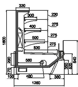 Refrigerated counters Missouri cold diamond MC 126 cascade 160-DBM