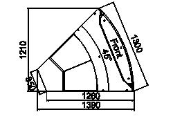 Angular element Missouri cold diamond MC 126 deli OS/self 130/084-DLM-ER45