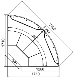 Angular element Missouri cold diamond MC 126 deli OS/self 130/084-DLM-ER90