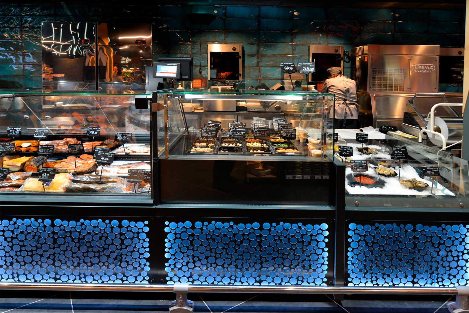 Витрины Мissouri MC 120 salads PP М, промоциональные витрины Virginia AK 132 ice self A