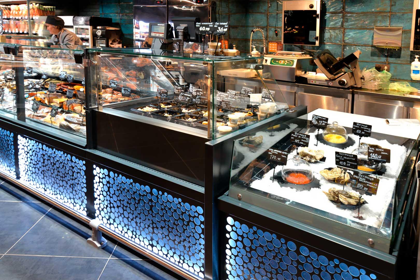 Витрины Мissouri MC 120 М, Мissouri MC 120 salads PP М, промоциональные витрины Virginia AK 132 ice self A