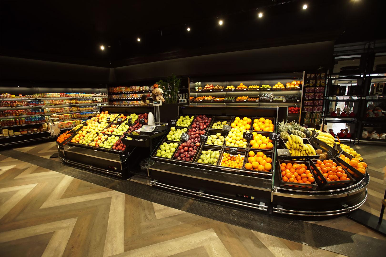 Специализированные витрины для продажи овощей и фруктов Indiana VF MC 130 VF self M