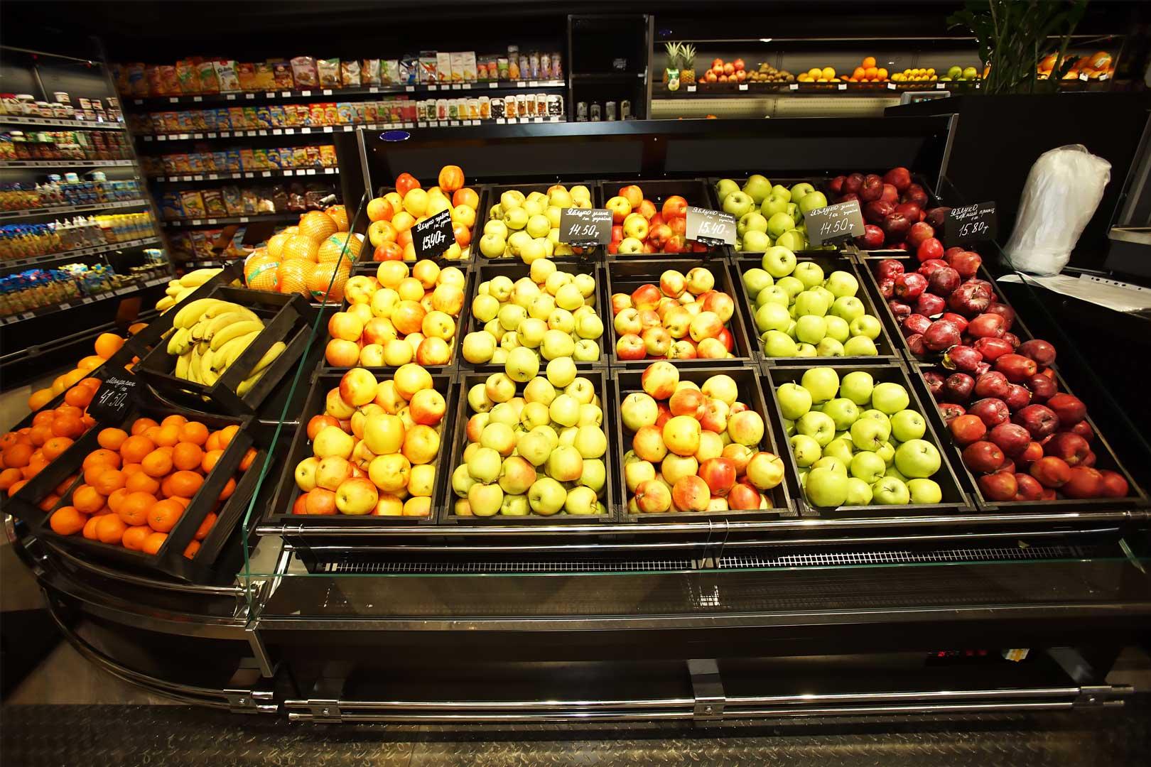 Спеціалізовані вітрини для продажу овочів та фруктів Indiana VF MC 130 VF self M
