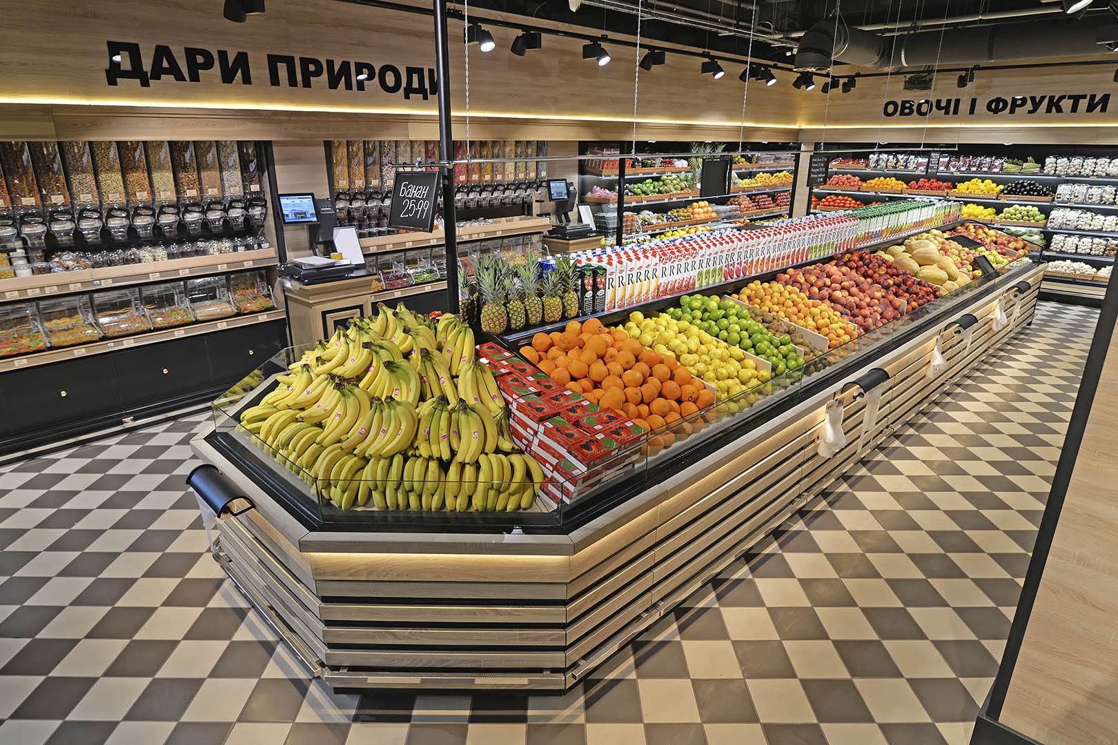 Tiefkühlwandvitrinen für den Verkauf von Gemüsen und Obst Missouri VF MC 110 VF self M