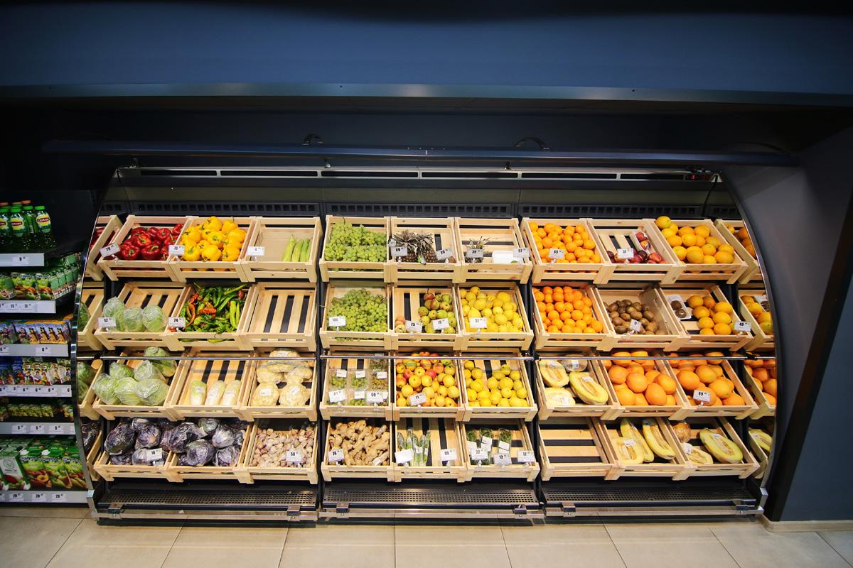 Schrägvitrinen für den Verkauf von Gemüsen und Obst Louisiana VF MV 095/110 VF M