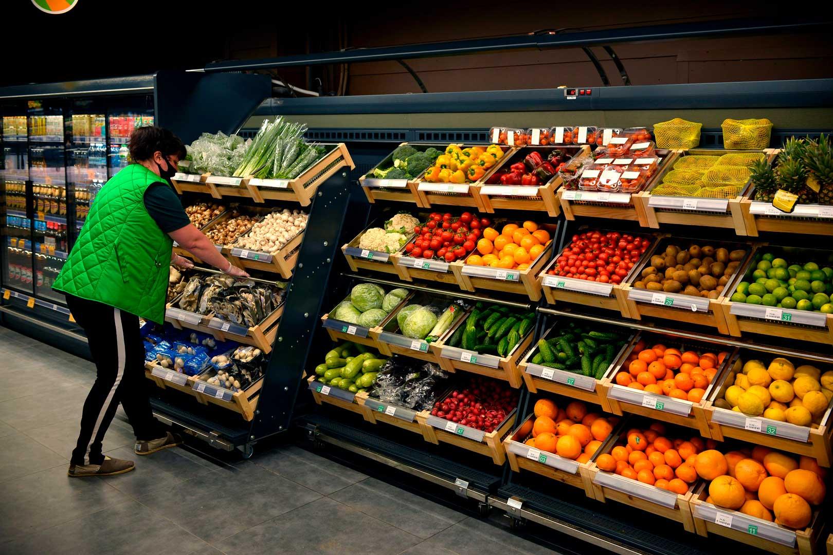 """Спеціалізована вітрина для продажу овочей та фруктів Louisiana VF MV 110 VF O 180-DLM, супермаркет """"Пчелка-маркет"""""""