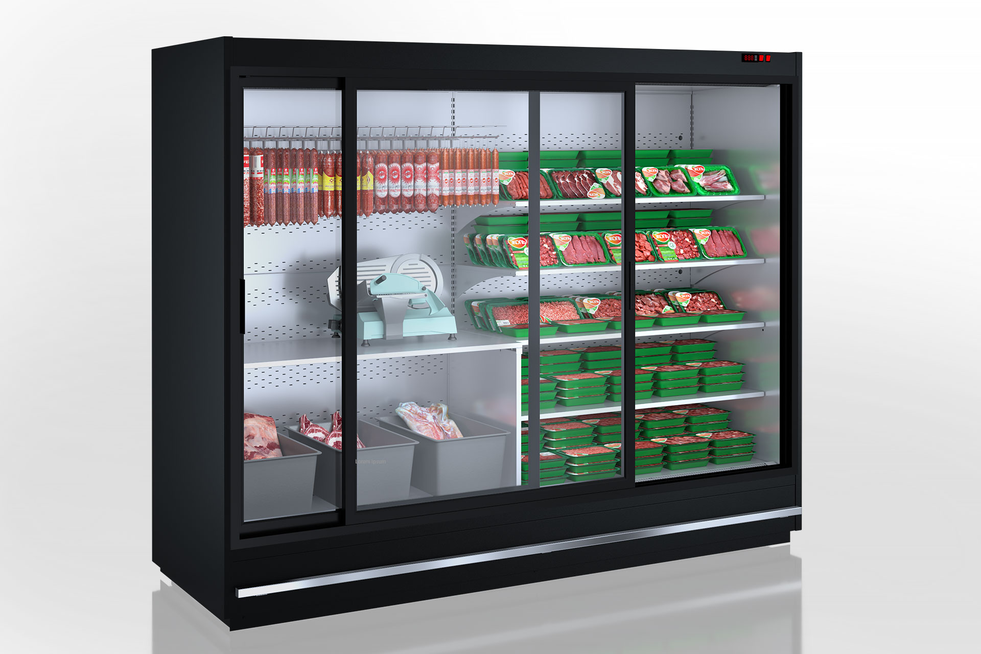Специализированные витрины для продажи мяса Indiana MV 080 meat D 205-DLM