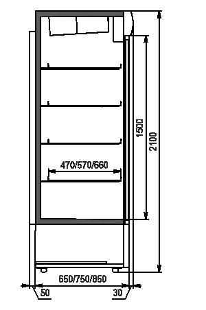 Kühlschränke Kansas A1SG 065/075/085 HT/MT 2HD 210-D1000/D1200/D1600 A-132