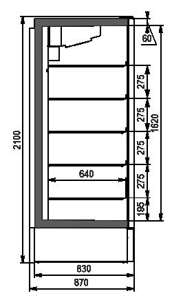 Kuhlschranke Kansas A1SG 087 LT 1HD 210-D700A-069 (mit Wagenschlag der Teknodor)