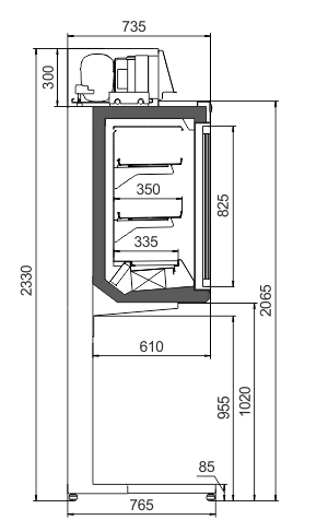 Шкаф Kansas HLT VA AV 077 LT D 233-DLA