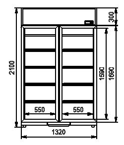 Холодильні шафи Kansas VА1SG 065/075/085 MT/HT 2HD 210-D1000/D1200/D1600A-132