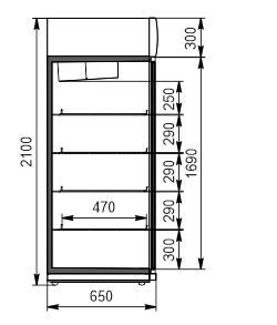 Холодильні шафи Kansas VА1SG 075/085 MT/HT 2HD 210-D1200/D1600A-132