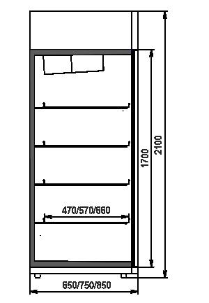 Холодильные шкафы Texas 1000/1200/1600 VA AO 065/075/085 MT/HT DNT 210-DLA