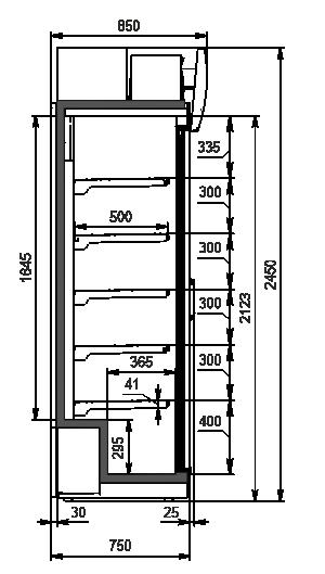 Шкафы Kansas VА1SG 075 HT SD 245-D1500A-127