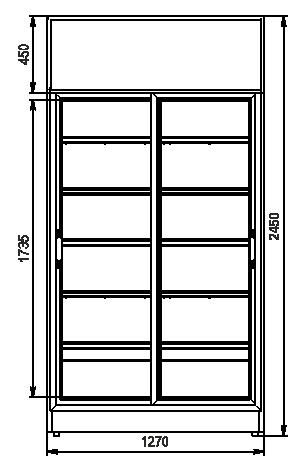 Schränke Kansas VА1SG 075 HT SD 245-D1500A-127