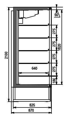 Kuhlschranke Kansas A1SG 087 LT 1HD 210-D700A-069 (mit Wagenschlag der Hitline)