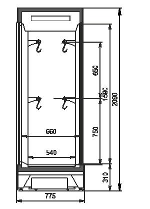 Холодильные шкафы Kansas А4SG 078 meat 2HD (option)