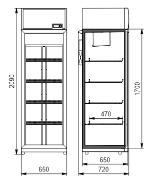 Холодильные Schränke Michigan 500 VA AO-065-HT-DS-210-DLA (option)