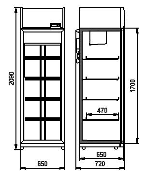 Холодильні шафи Michigan 500 VA AO-065-HT-DS-210-DLA-option