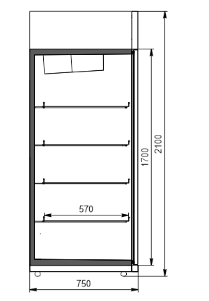 Холодильні шафи Kansas VАZG 075 LT 2HD 210-D1200A-132