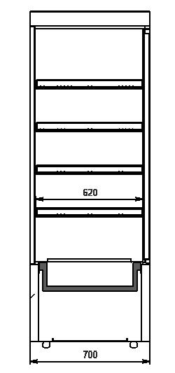 Кондитерские шкафы Kansas А4SG 070 patisserie 1HD 198-D600A-070