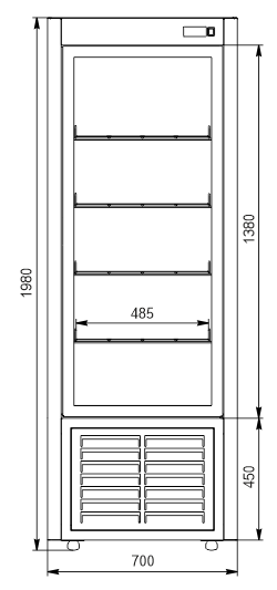 Кондитерські шафи Kansas А4SG 070 patisserie 1HD 198-D600A-070