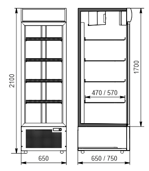 KühlschränkeMichigan 500/600 AO 065/075 MT/HT DS 210-DLA