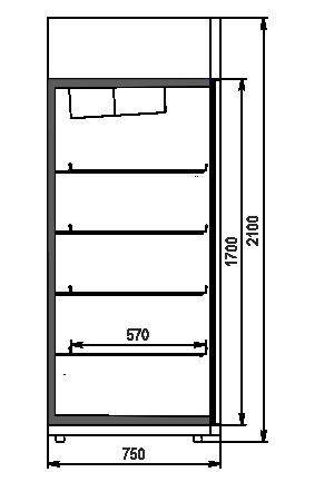 Kühlschränke Kansas VАZG 075 LT 2HD 210-D1200A-132