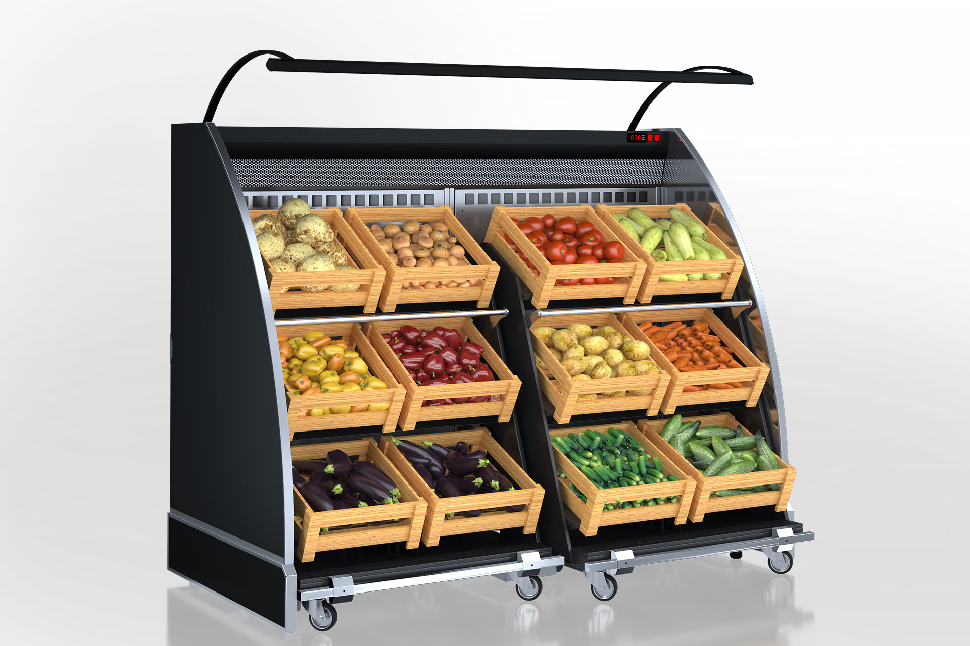 Специализированные витрины для продажи овощей и фруктов Louisiana VF MV 095 VF O 150-DLM