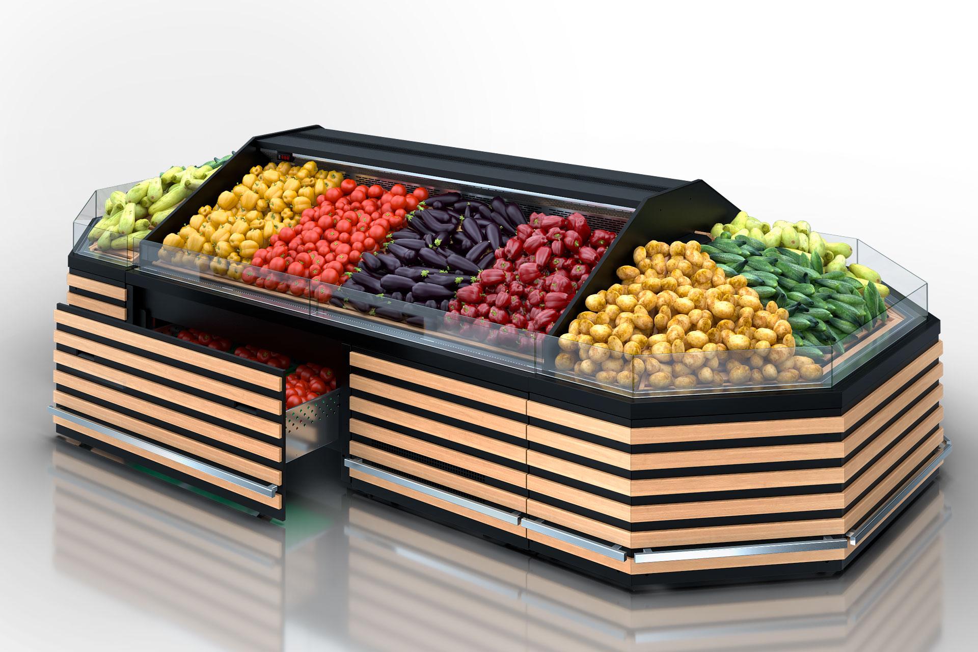 Спеціалізовані вітрини для продажу овочів та фруктів Missouri VF AC 110 VF self A