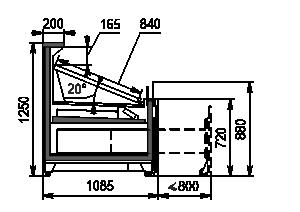 Холодильна вітрина Missouri VF AC 110 VF self 125-DBA