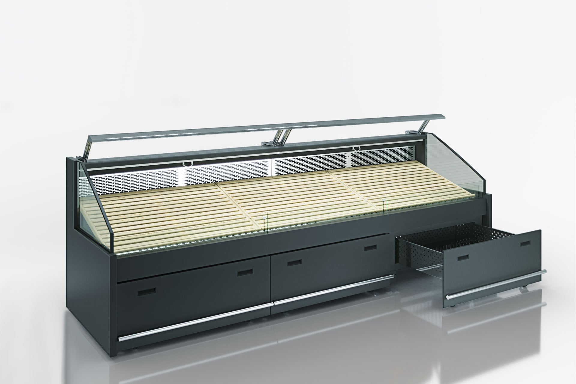 Специализированная витрина для продажи овощей и фруктов Missouri VF MC 110 VF self 125-DBM