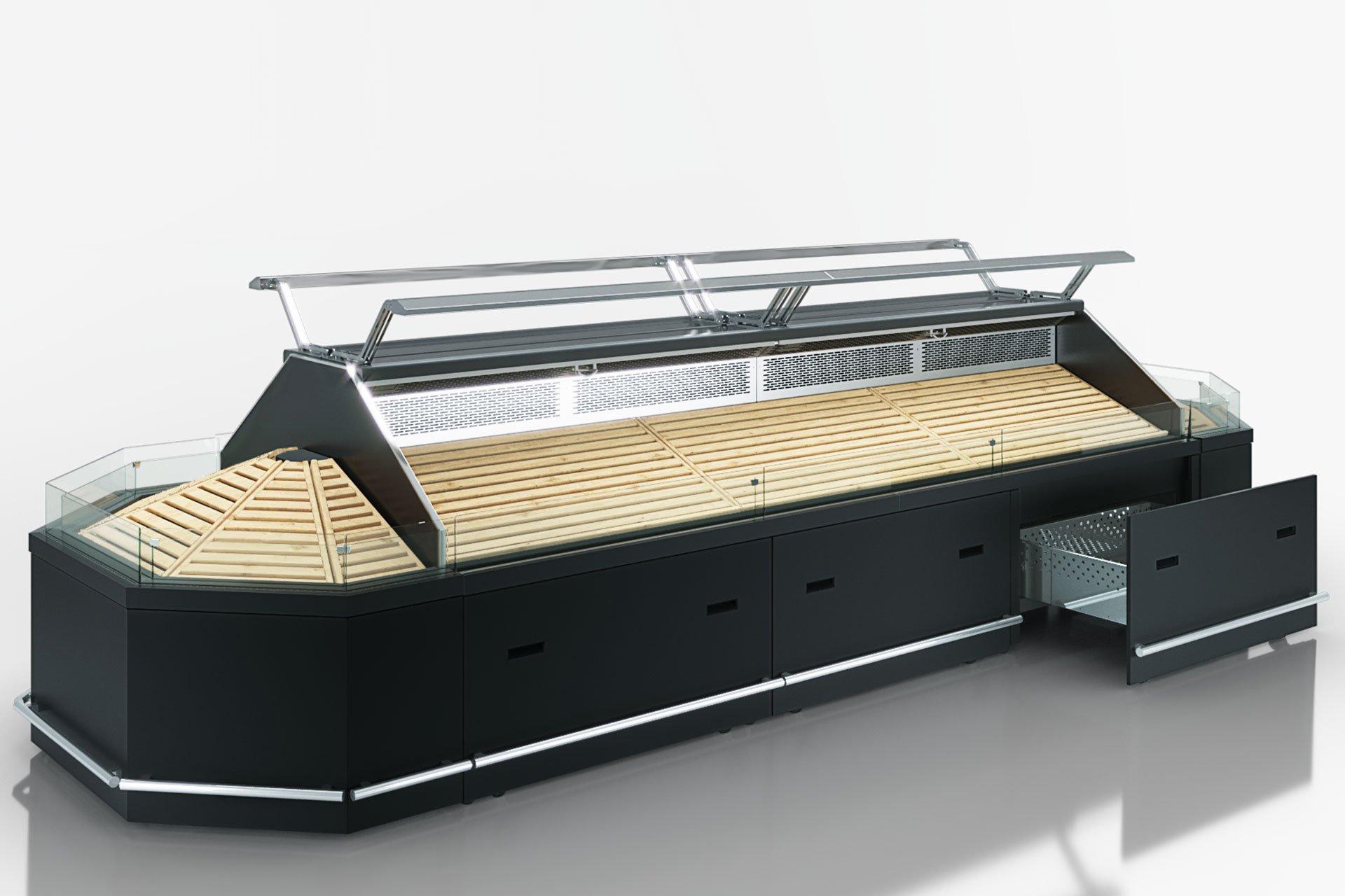 Специализированная витрина для продажи овощей и фруктов Missouri VF MC 090 VF self 125-DBM