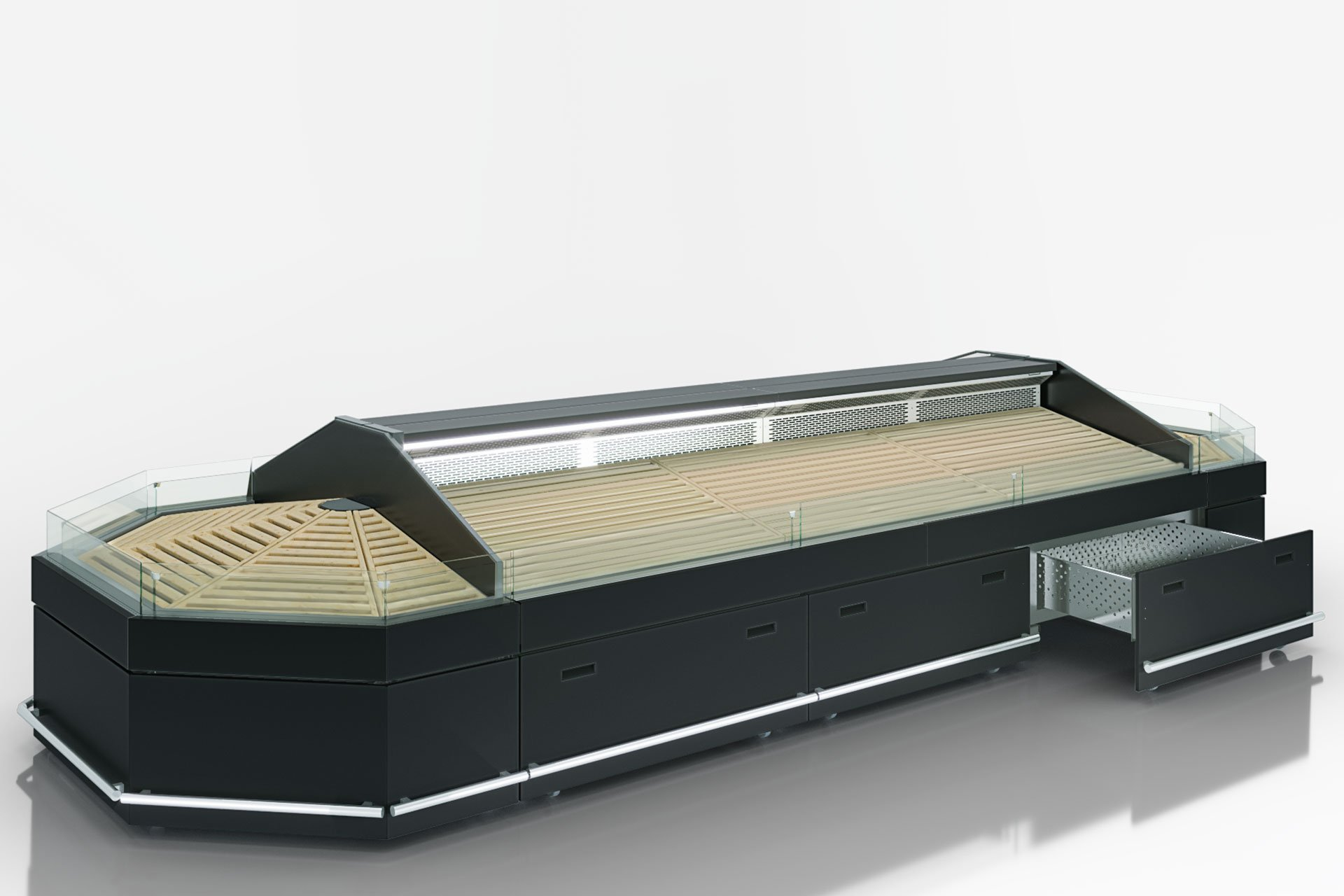 Спеціалізована вітрина для продажу овочів та фруктів Missouri VF MC 110 VF self 110-DBM