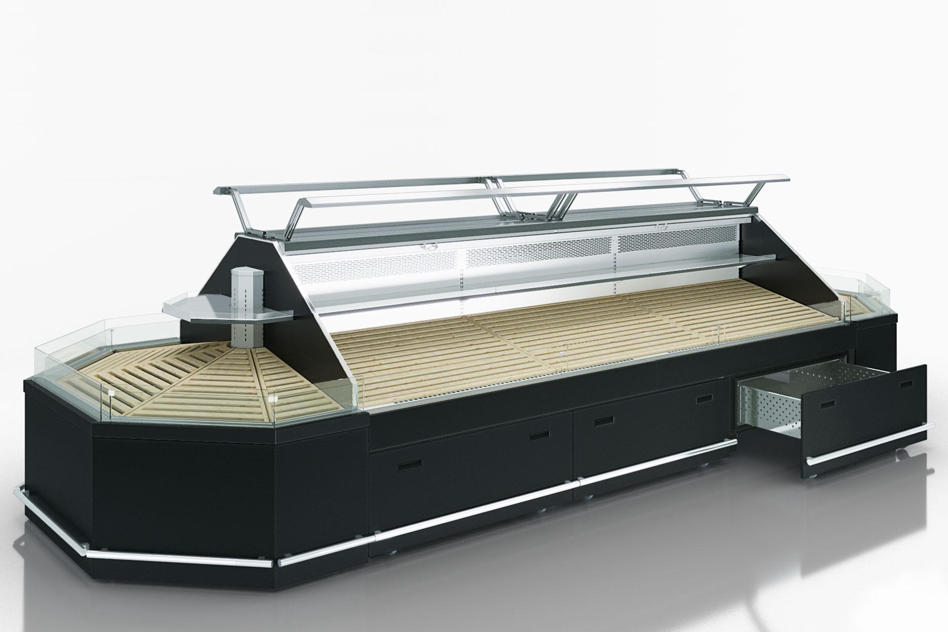 Специализированная витрина для продажи овощей и фруктов Missouri VF MC 110 VF self 140-DBM
