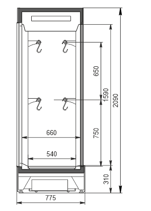 Refrigerated cabinets Kansas А4SG 078 meat 2HD 210-S1000A-135 (option)