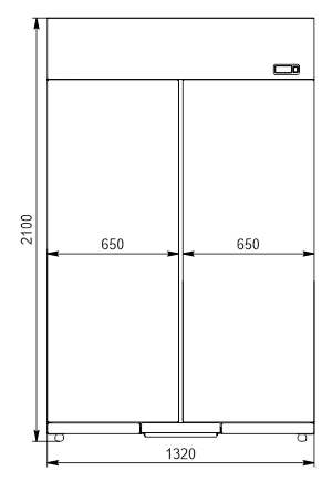 Refrigerated cabinets Kansas VАZG 065/075/085 MT/HT 2HD 210-D1000/D1200/D1600A-132
