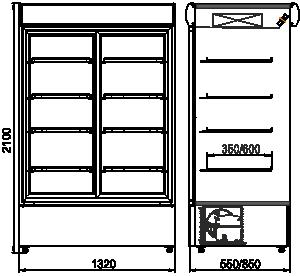 Kühlschränke Kansas А2SG 055/085 HT SD 210-D800/D1200A-132