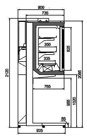 Schränke Kansas АV 093 HLT D 210-D800A-250