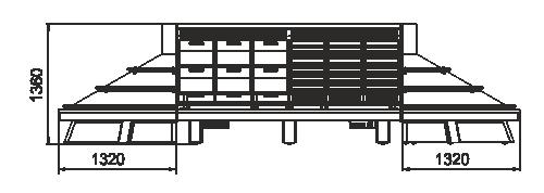Spezialisierte Verkaufsvitrinen für den Verkauf von Gemüsen und Obst Indiana luxe VF MC 130 VF self 140-DLM - Inselversion