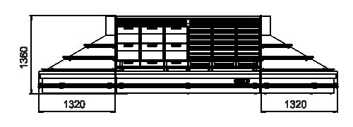 Spezialisierte Verkaufsvitrinen für den Verkauf von Gemüsen und Obst Indiana VF MC 130 VF self 140-DLM - Inselversion