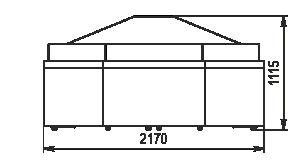 Spezialisierte Verkaufsvitrinen für den Verkauf von Gemüsen und Obst Missouri VF MC 110 VF self 110-DBM - ungekühltes stirnseitig Modul