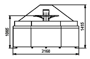 Spezialisierte Verkaufsvitrinen für den Verkauf von Gemüsen und Obst Missouri VF MC 110 VF self 140-DBM - ungekühltes stirnseitig Modul