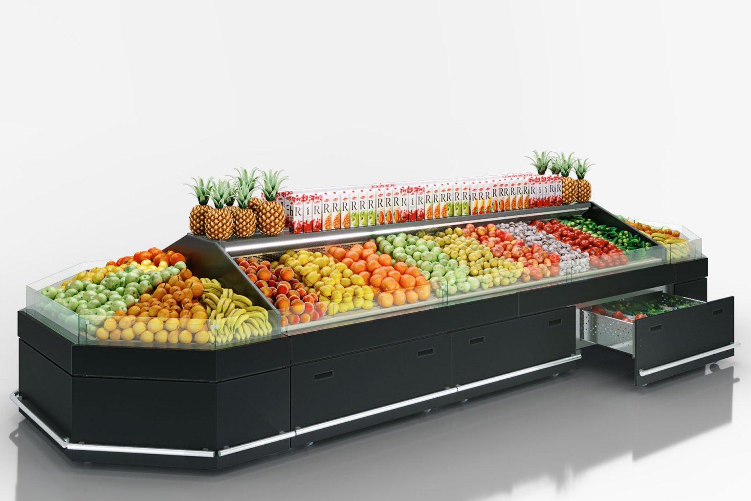 Spezialisierte Verkaufsvitrinen für den Verkauf von Gemüsen und Obst Missouri VF MC 110 VF self M