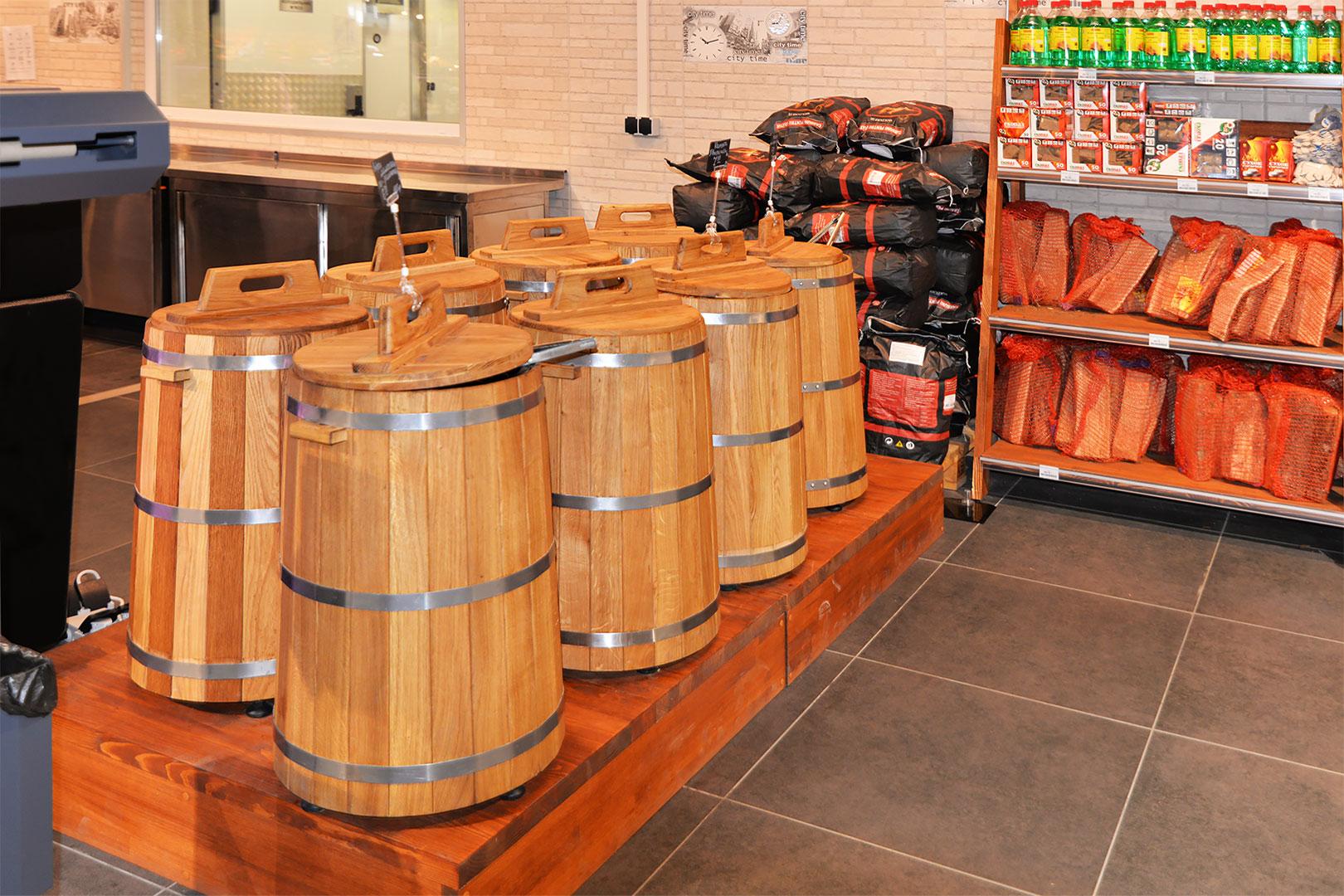 Spezielle Verkaufsvitrinen für den Verkauf von Salzgemüsen Pickles Tub 20 mit Deckel