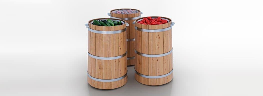 Spezielle Verkaufsvitrinen für den Verkauf von Salzgemüsen Pickles Tub 20
