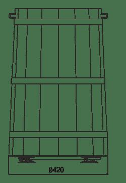 Spezielle Verkaufsvitrinen für den Verkauf von Salzgemüsen Pickles Tub 20 ohne Decke
