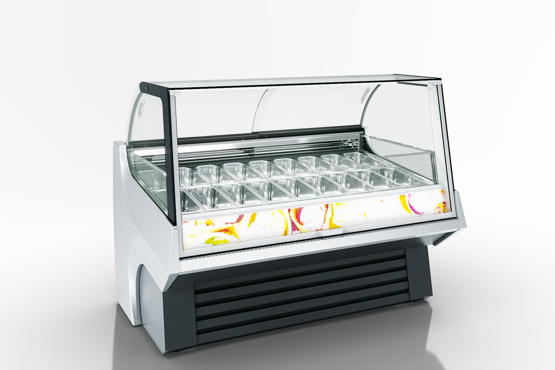 Специализированная витрина для продажи мягкого мороженого Мissouri AC 110 ice cream PS 172-DLA