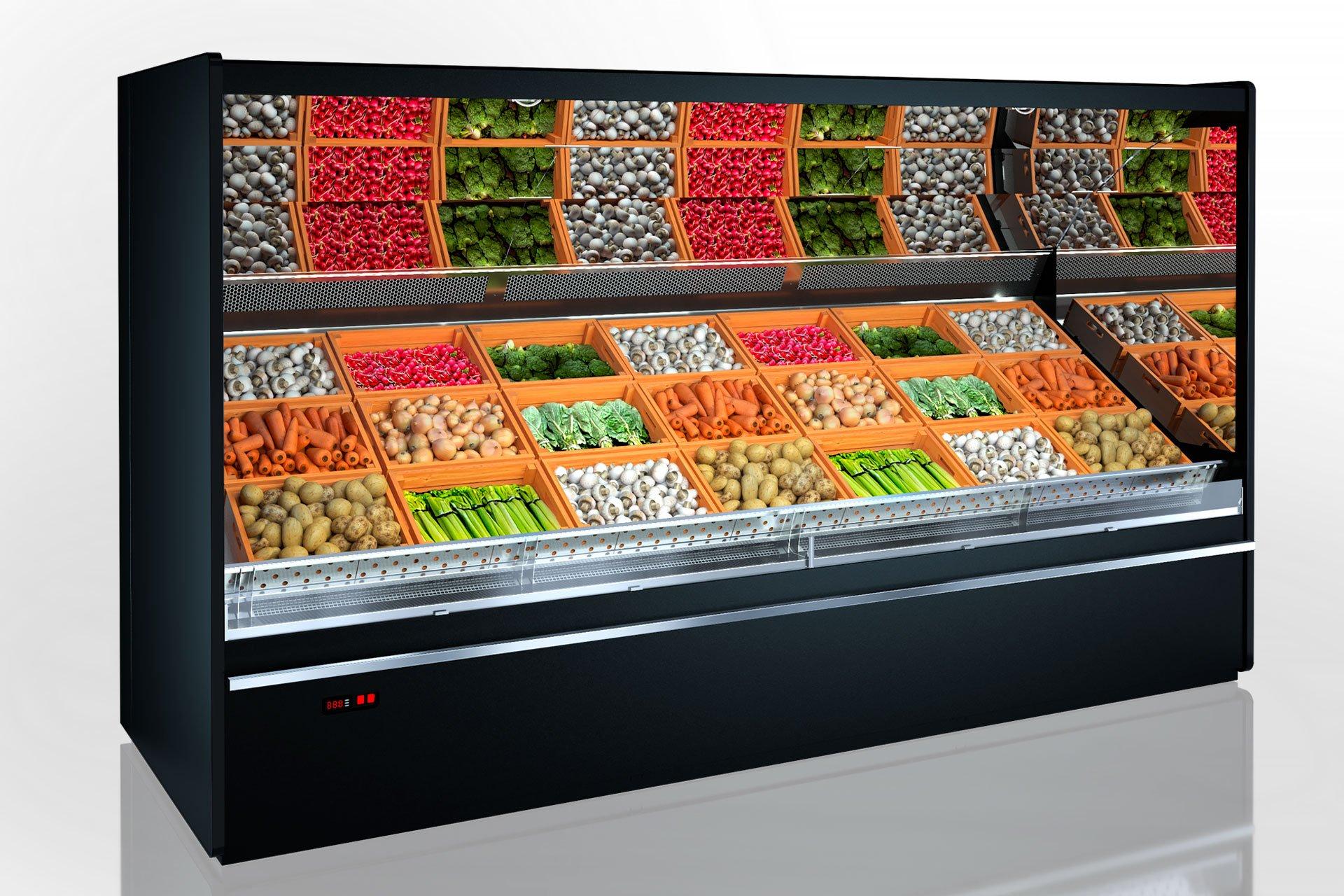 Tiefkühlwandvitrinen für den Verkauf von Gemüsen und Obst Indiana VF МV 140 VF O 220-DLM