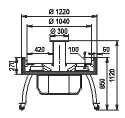 Refrigerated counters Virginia AI 122 VF Self 112-DLA